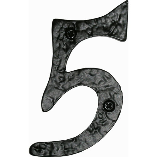 Acorn RN5BP House Numbers - Rough Iron