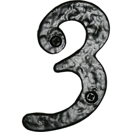 Acorn RN3BP House Numbers - Rough Iron