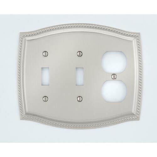 A'dor SW307 Rope 2 Switch & Outlet, Satin Nickel