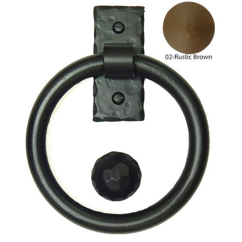 Agave Ironworks KN015/PU014-02 Smooth Ring Knocker Knocker Pull