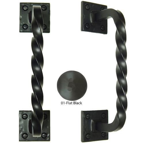 Agave Ironworks PU010-01 Twisted Back Bar Pull
