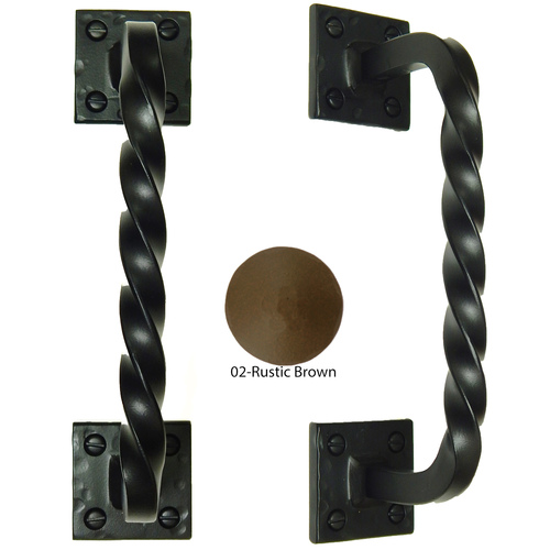 Agave Ironworks PU010-02 Twisted Back Bar Pull