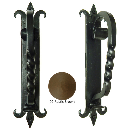 Agave Ironworks PU030-02 Spanish Coat of Arms Bar Pull