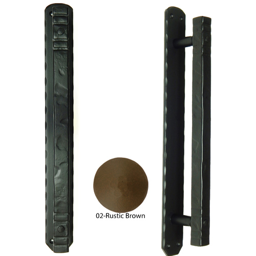 Agave Ironworks PU052-02 Cuadrado Bar Pull