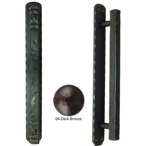 Agave Ironworks PU052-04 Cuadrado Bar Pull