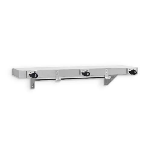 AJW UJ41D Mop Holder & Hook Strip w/ Shelf 48
