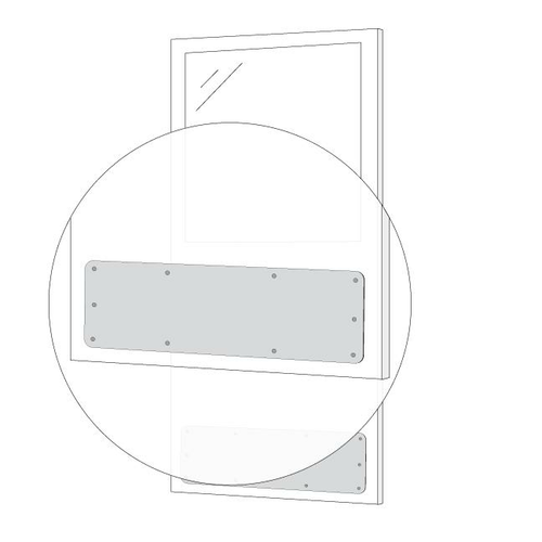 AJW UM51-3008 Kick Plate with Mounting Holes