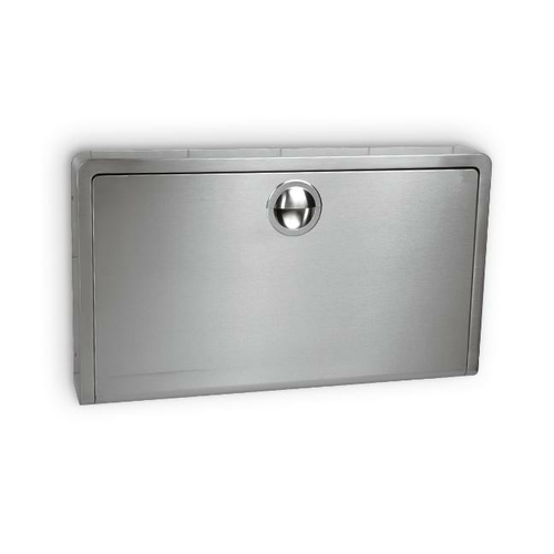 AJW U984-SM Horizontal Fold Down Stainless Steel Baby Changing Station - Grey - Surface Mounted
