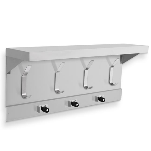 AJW UJ45A Mop Holder & Hook Strip w/ Shelf 34