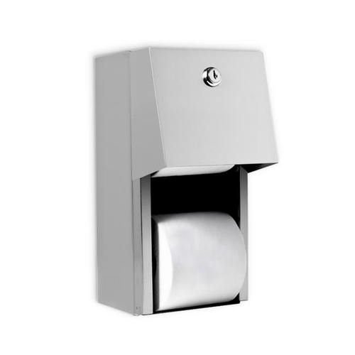AJW U840 Dual Hooded Toilet Tissue Dispenser w/Auto Reserve - Surface Mounted - Non-Controlled
