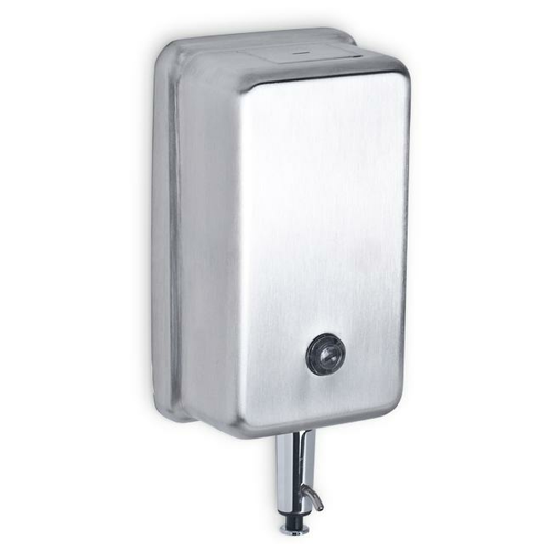 AJW U127 40 oz Vertical Liquid Soap Dispenser w/ Push-up Valve - Surface Mounted