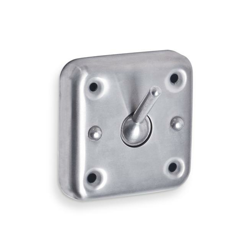 AJW US19 Collapsable Security Hook, Exposed Mounting - Surface Mounted