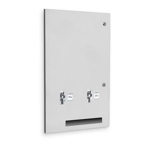 AJW U510-10 Sanitary Napkin/Tampon Dispenser - 10 cent Operation - Recessed