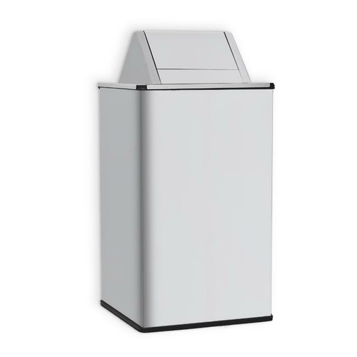 AJW U472-36 36 Gallon Waste Receptacle w/ Swing Top - Free Standing