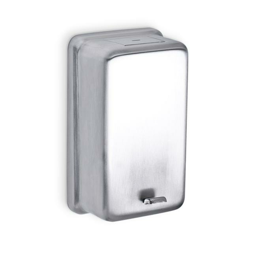 AJW U112 32 oz Stainless Steel Powder Soap Dispenser - Surface Mounted