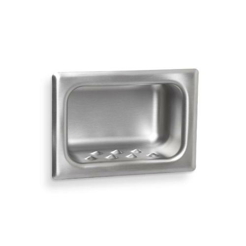 AJW US80 Security Soap Dish, Chase Mount - Recessed
