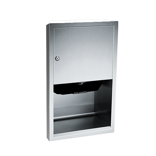 ASI 045210A-6 Automatic Roll Paper Towel Dispenser, Battery Operated – Semi Recessed