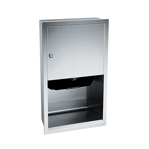 ASI 045210A Automatic Roll Paper Towel Dispenser, Battery Operated – Recessed