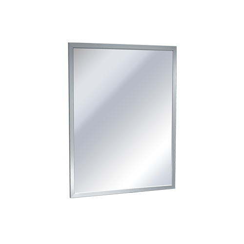 ASI 0600-B1824 Mirror - Stainless Steel, Inter-Lok Angle Frame - Tempered Glass - 18