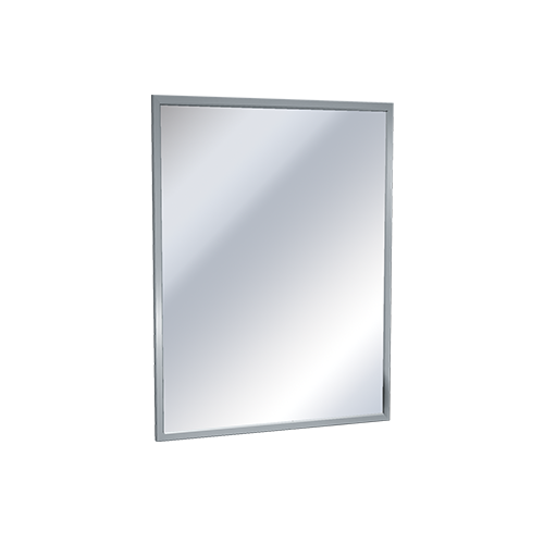 ASI 0620-1830 Mirror - Stainless Steel, Chan-Lok Frame - Plate Glass - 18