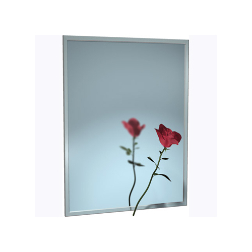 ASI 0620-9036 Mirror - Stainless Steel, Chan-Lok Frame - Plate Glass - 90
