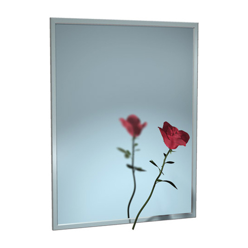 ASI 0620-9642 Mirror - Stainless Steel, Chan-Lok Frame - Plate Glass - 96