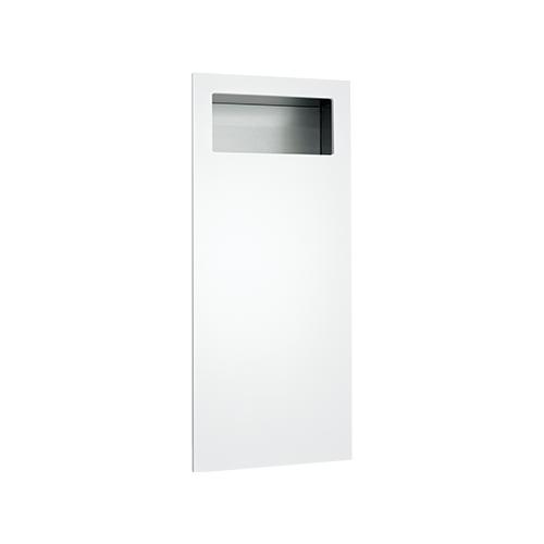 ASI 6474-00 Piatto Completely Recessed Waste Receptacle – White Phenolic Door