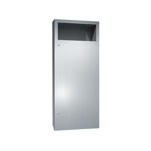 ASI 6474-2 Simplicity Collection Waste Receptacle – Semi-recessed