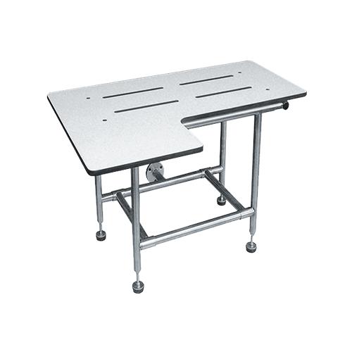 ASI 8202 Folding Shower Seat, Solid Phenolic – L-shape, Four Leg