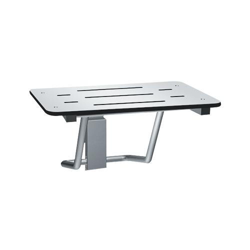 ASI 8203-28 Folding Shower Seat, Rectangular Solid Phenolic Seat – 28