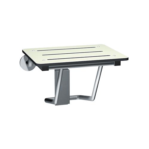ASI 8203 Folding Shower Seat, Rectangular Solid Phenolic Seat – Compact 18