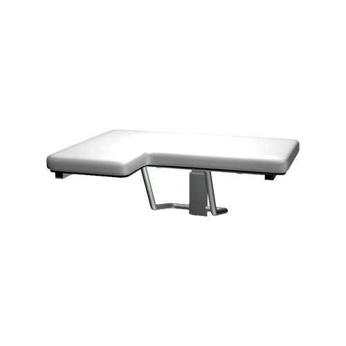 ASI 8205-R Folding Shower Seat, Padded – L Shaped – Right Hand, Ada