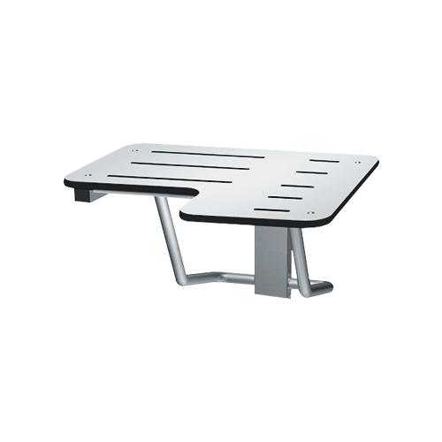 ASI 8206-L-28 Folding Shower Seat, Solid Phenolic, White – L Shaped 28