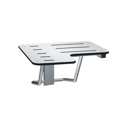 ASI 8206-R-28 Folding Shower Seat, Solid Phenolic, White – L Shaped 28