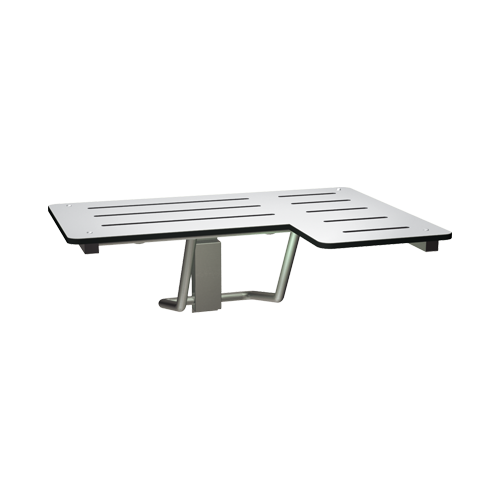 ASI 8206-L Folding Shower Seat, Solid Phenolic, White – L Shaped 33