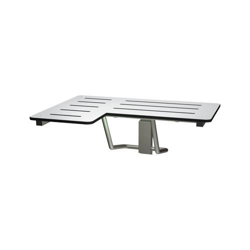 ASI 8206-R Folding Shower Seat, Solid Phenolic, White – L Shaped 33