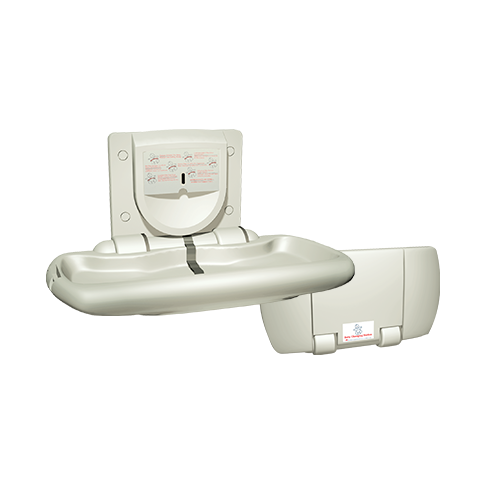 ASI 9012 Baby Changing Station, Horizontal – Plastic, Surface Mounted