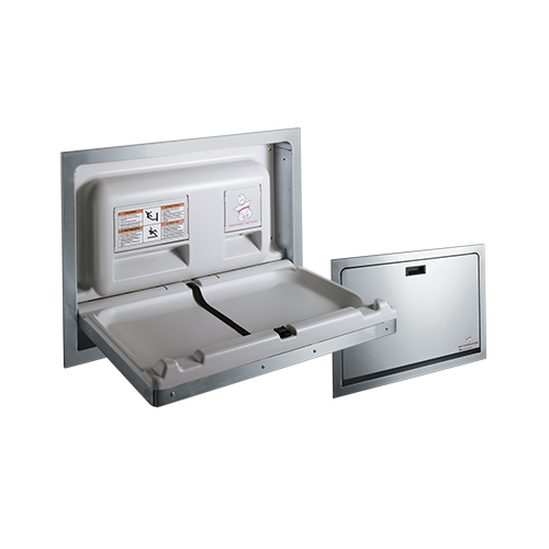 ASI 9013 Baby Changing Station – Stainless Steel, Recessed