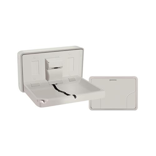 ASI 9014 Baby Changing Station, Horizontal – Plastic, Surface Mounted