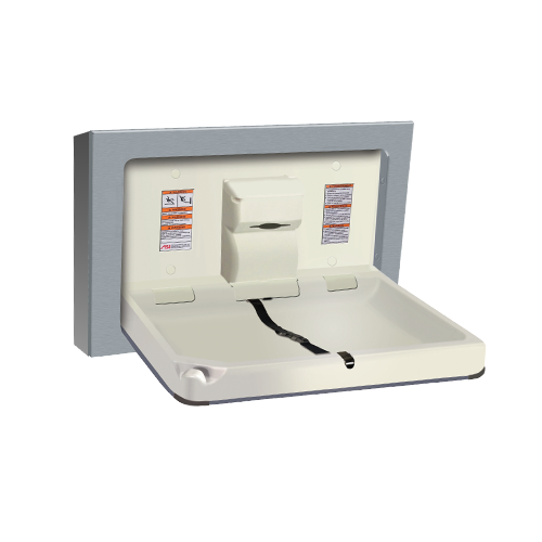 ASI 9018-9 Baby Changing Station, Horizontal – Stainless Steel, Surface Mounted
