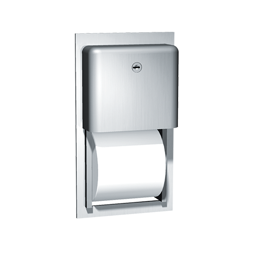 ASI 9031 Profile Collection Toilet Tissue Dispenser, Twin Roll – Recessed