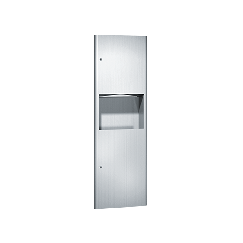 ASI 9462 Profile Collection Paper Towel Dispenser (800 Multi 600 C-fold 1100 Single) And Waste Receptacle (9 Gal.) – Recessed