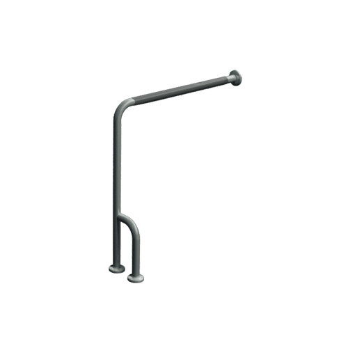 """ASI 3833-PR Wall To Floor Grab Bar 30"""" X 33"""" With Outrigger – Peened"""