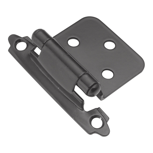 Hickory Hardware P144-BL Surface Self-Closing Collection Hinge SurFace Self Close, Black