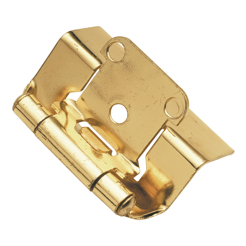Hickory Hardware P5710F-3 Self-Closing Semi-Concealed Collection Hinge Semi-Concealed, Polished Brass
