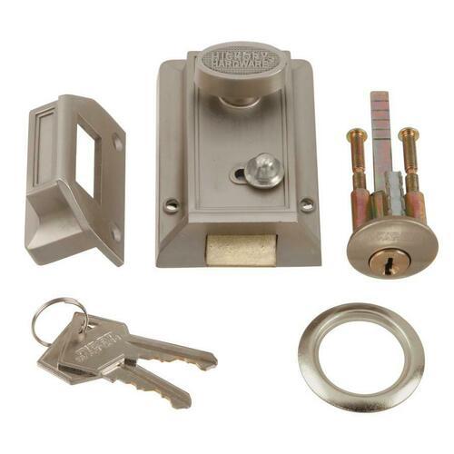 First Watch 1105-SN Night Latch & Locking Cylinder, Satin Nickel