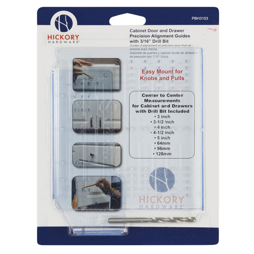 Hickory Hardware PBH3103 Mounting Templates Collection Cabinets/Drawers/Mounting Kit, Clear Blue