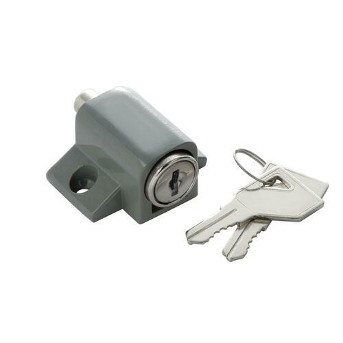 First Watch 1425 Keyed Patio Lock, Gray