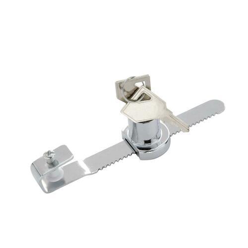First Watch 1306-601 Keyed Alike Showcase Lock, Chrome