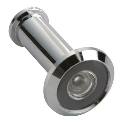 First Watch 2321 Wide Angle Door Viewer 190 Degrees, Chrome - Solid Brass